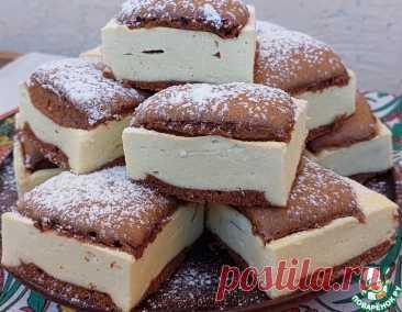 """Шоколадно-творожный пирог """"Подушечки"""" – кулинарный рецепт"""