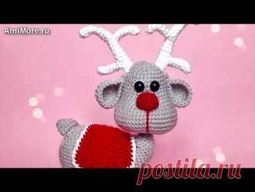 Амигуруми: схема Северный олень. Игрушки вязаные крючком - Free crochet patterns.
