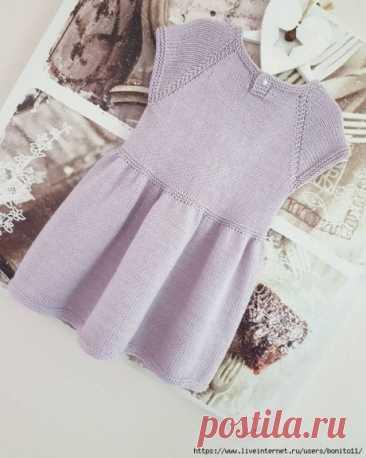 Платье для девочки спицами, Вязание для детей