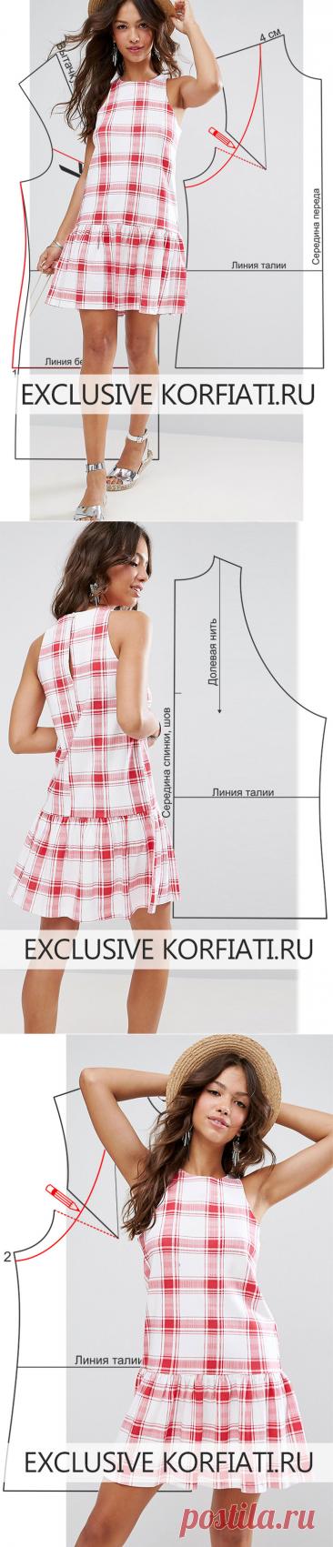 Dress pattern with a frill from Anastasia Korfiati