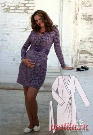 Платье с запахом. Размеры 36-48eur Такой крой подходит даже для беременных. Можно шить как из ткани, так и из трикотажа. Показываю несколько примеров, отшитых по этой выкройке (спасибо авторам за фото). #вж_платье5@kopilka_vikroek