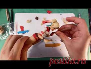 Harley Quinn. Figurine made of polymer clay. Харли Квинн фигурка из полимерной глины.