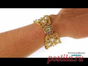 Embraced Bracelet - DIY Jewelry Making Tutorial by PotomacBeads