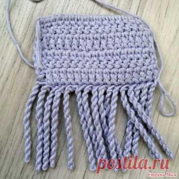 Мастер-класс как сделать крученную бахрому крючком - Вязание - Страна Мам