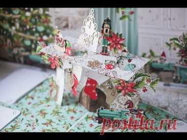 Поп ап по-новогоднему Конструкция камин/ Christmas pop up Chimney
