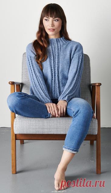 Вязаный свитер BlueAster | ДОМОСЕДКА