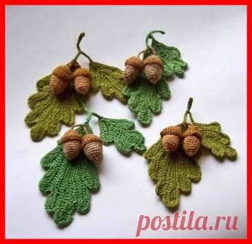 Кружевной листопад.ч.2 Вяжем листики, ягодки, веточки.   Vasha Economka   Яндекс Дзен