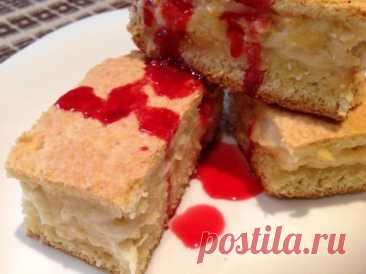 Творожно-яблочный пирог с ванильным ароматом