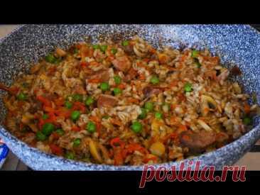 Перловая каша рецепт с мясом , грибами и овощами. Перловка рецепт каши. Всё готовим дома