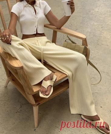 В рубчик, карго, розовые: актуальные модели брюк, которые станут летними хитами 2021-го | Леди Лайк | Яндекс Дзен