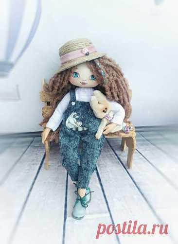 текстильная кукла игрушка для девочки кукла в шапке мягкий   Etsy