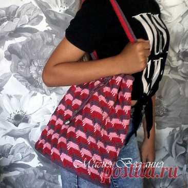 Вяжем модную сумку | Магия Вязания / Knitting Magic | Яндекс Дзен