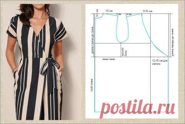 Платье с запахом - идеально на любую фигуру - модели с выкройками - большая подборка | МНЕ ИНТЕРЕСНО | Яндекс Дзен