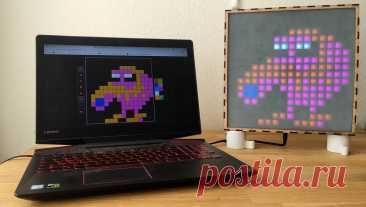 Светодиодная матрица с адресными светодиодами В этой статье мы рассмотрим изготовление светодиодной матрицы с адресными светодиодами. Матрица имеет 256 светодиодов и управляется через веб-приложение. Инструменты и материалы: -
