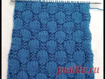 №179 Объемный узор спицами типа ШАХМАТКА (ПЛЕТЕНКА) для мужского свитера или пледа