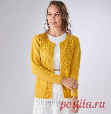 Ажурный кардиган с карманами — Shpulya.com - схемы с описанием для вязания спицами и крючком