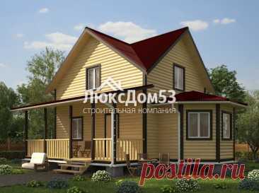 Проект Д-8 | «ЛюксДом 53» — строительство домов и бань
