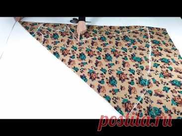 Простое шитье элегантного платья подходит для всех размеров и разделяется на теле.