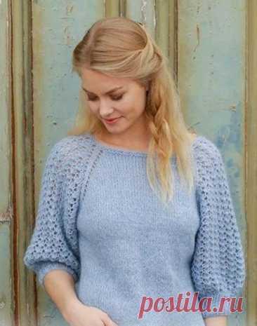 Пуловер для женщин регланом (Вязание спицами) – Журнал Вдохновение Рукодельницы