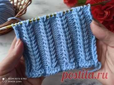 Узор «Объëмные колоски» Для вязания шапок (Вязание спицами) – Журнал Вдохновение Рукодельницы