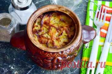Картофельная бабка в горшочках — вкусное и сочное блюдо