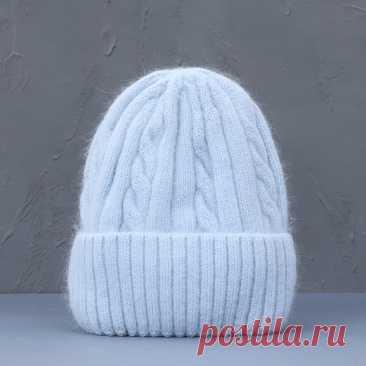 660р-Женская зимняя шапка из смеси кашемира, длинные меховые теплые мягкие шерстяные вязаные шапки, женские шапочки, облегающие шапки, оптовая продажа | Аксессуары для одежды | АлиЭкспресс