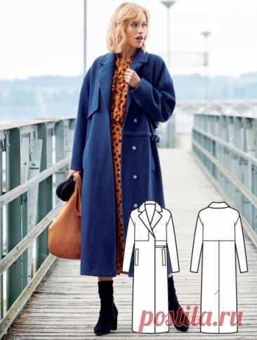 Женское пальто ****************** ВыкройкиPDFодежда ************************ Размер 38-46евро
