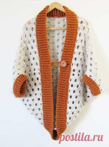 Выкройка кардигана крючком для 7 часов для начинающих бесплатно - Crochet Dreamz