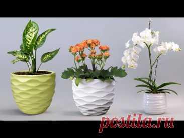 Easy cement pottery Making || Cement flower vase - Gypsum flower vase making