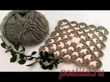 BOL BOL KAZANACAK 💰💰 ZEVKLE ÖRECEKSİNİZ ❗✅💥✅ İKİ RENK İKİ SIRA😏#crochetblanket#örgübattaniye#blanket