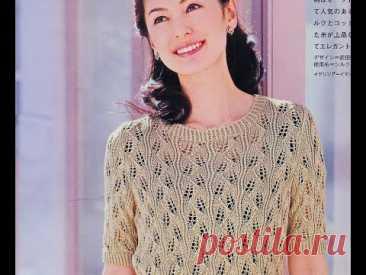 Ажурная летняя блузочка от японских дизайнеров