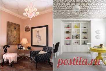 Узорчатые обои на потолке: модно и красиво! — Pro ремонт