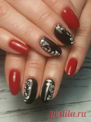 Красно-черный маникюр - фото идей дизайна ногтей - Best Маникюр