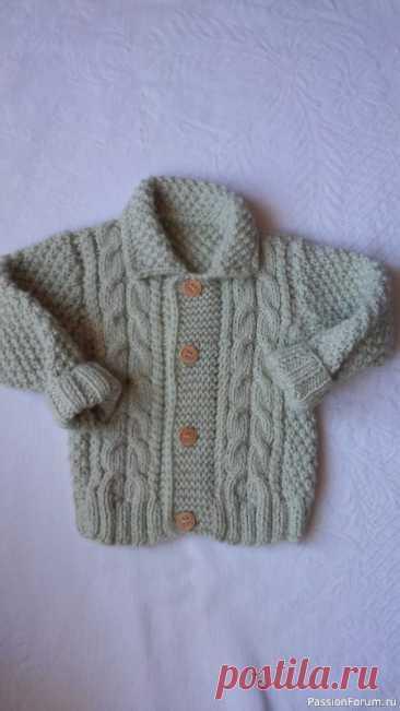 Жакетик для моего любимчика   Вязание спицами для детей