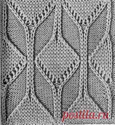 Красивый узор спицами   для джемпера или пуловера , , ,  , , , ,