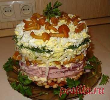 Вот, у подруги выпросила рецепт обалденного салата!