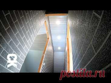 Монтаж вагонки на стены, скаты и потолок. Как сделать красиво своими руками? Лестничный проём.