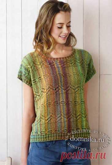 Летняя кофточка спицами - вязание для полных женщин лето 2019