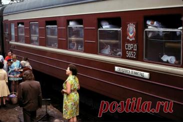 Редкие снимки плацкарта и купе в СССР / Назад в СССР / Back in USSR