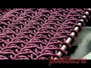 Knitting pattern ❤ Узор спицами 👌 strickmuster  tricot 🍑 how to knit   tricô 🤷  örgü deseni बुनना - YouTube