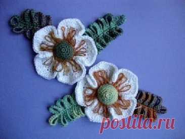 Как вязать цветок Вязание крючком Урок 24 Crochet flower pattern