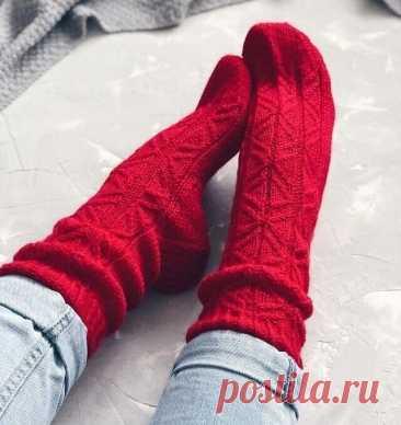 Узор для вязаных носков