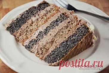 Вишуканий маковий торт: рецепт знахідка! : Ням ням за 5 хвилин