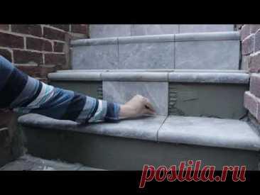 Монтаж клинкерной плитки на ступени и бордюр своими руками.
