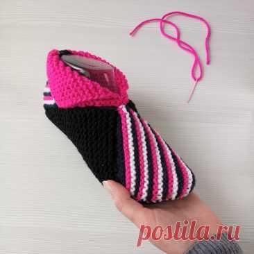 Как сделать интересные тапочки-носки из 8 вязаных квадратов, на любую ногу!   Записки Спицеманьяка   Яндекс Дзен