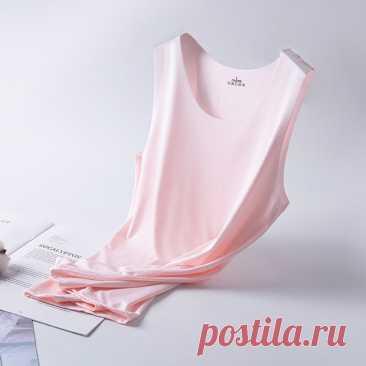 Ice Silk майка бюстгальтер без косточек сексуальное женское белье бесшовный тонкий жилет летние дышащие топ на бретельках Feminino Удобная ночная рубашка | Женская одежда | АлиЭкспресс