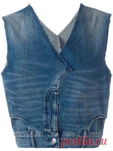 """Куртка из старых джинсов. Джинсы """"вверх ногами"""". Необычные джинсовые переделки.   Handmade для всех   Яндекс Дзен"""