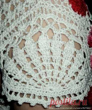 Интересный вариант для вязаного рукава