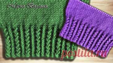 Красивая резинка  #резинка_спицами@knit_best, #узор_спицами@knit_best  видео мк*  Источник: https://youtu.be/SUAm2eEqADY