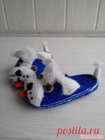 . Тапочки собачки - Вязание - Страна Мам
